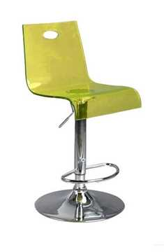 Picture of Office Chair Company Florida Modern translucent bar stool - Yellow