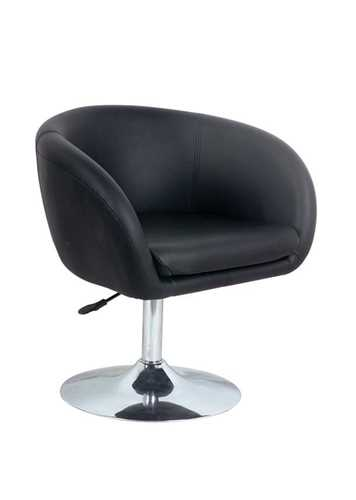 Picture of Office Chair Company Alaska Contemporary Leather Lounge Chair - Black
