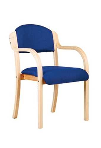 Picture of Office Chair Company Tahara Wooden Framed Stackable Side Armchair - Blue