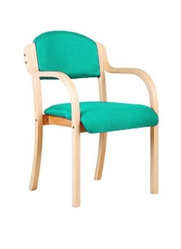 Picture of Office Chair Company Tahara Wooden Framed Stackable Side Armchair - Aqua