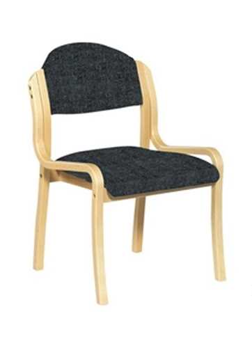 Picture of Office Chair Company Tahara Wooden Framed Stackable Side Chair - Black