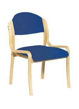 Picture of Office Chair Company Tahara Wooden Framed Stackable Side Chair - Blue