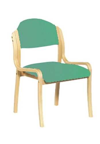 Picture of Office Chair Company Tahara Wooden Framed Stackable Side Chair - Aqua