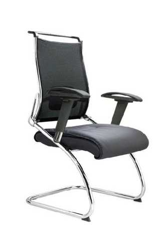 Picture of Office Chair Company Trident Cantilever Chrome Framed Visitors Armchair - Black