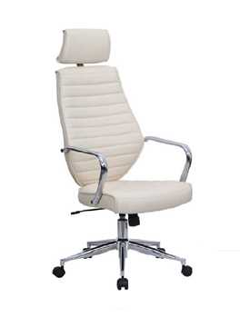 Picture of Office Chair Company Atlas Leather Effect Designer Chair - Cream