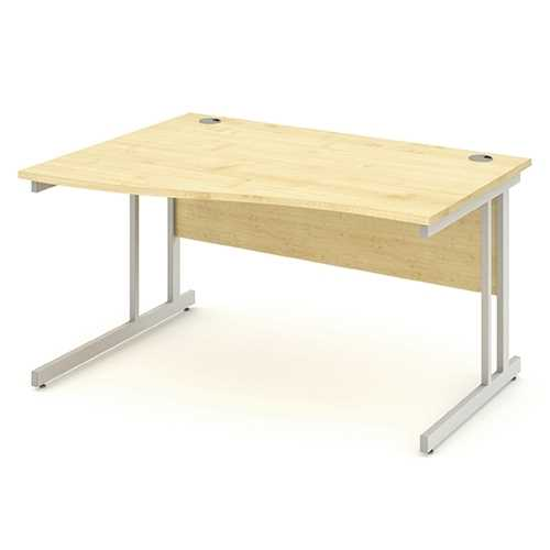 Picture of Office Chair Company 1400 Left Hand Wave Desk - Maple