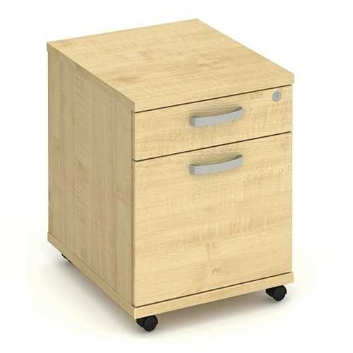 Picture of Office Chair Company Mobile Pedestal 2 Drawer - Maple