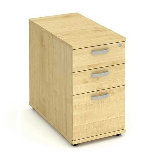 Picture of Office Chair Company 800 Desk High Pedestal 3 Drawer - Maple