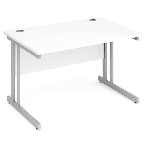 Picture of Office Chair Company 1200 Straight Desk Cantilever Leg - White