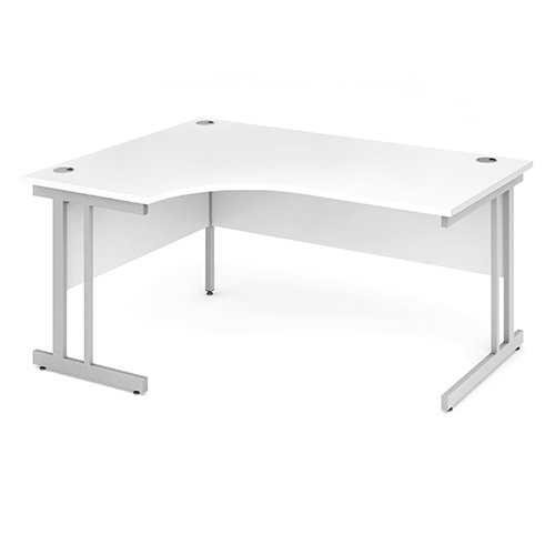 Picture of Office Chair Company 1600 Left Hand Crescent Desk - White