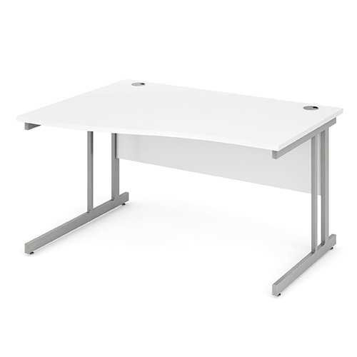 Picture of Office Chair Company 1400 Left Hand Wave Desk - White