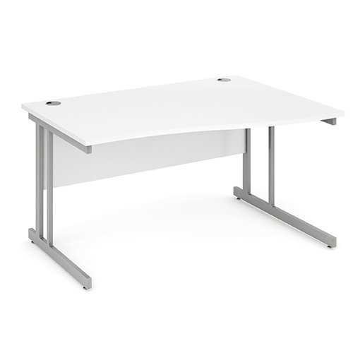 Picture of Office Chair Company 1400 Right Hand Wave Desk - White