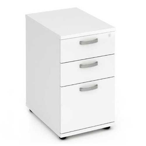 Picture of Office Chair Company 600 Desk High Pedestal 3 Drawer - White