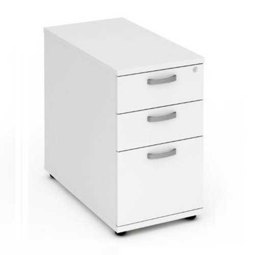 Picture of Office Chair Company 800 Desk High Pedestal 3 Drawer - White