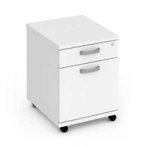 Picture of Office Chair Company Mobile Pedestal 2 Drawer - White