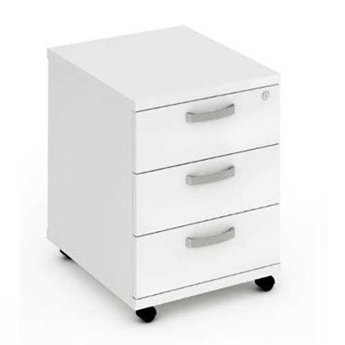 Picture of Office Chair Company Mobile Pedestal 3 Drawer White