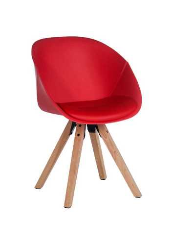 Picture of Office Chair Company Pyramid Padded Tub Chair Red (Sold in 2's only)