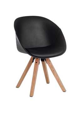 Picture of Office Chair Company Pyramid Padded Tub Chair Black (Sold in 2's only)